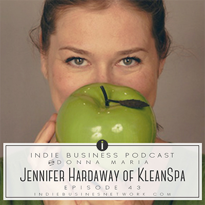 Indie Business Network podcast interview with Jennifer Hardaway of Klean Spa